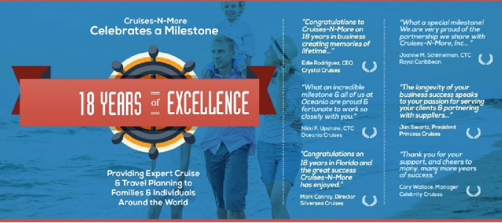 Cruises-n-More 18 Years of Excellence