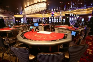 The Casino Royale onboard Royal Caribbean's Allure of the Seas.  Image courtesy of RCI