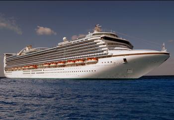 Caribbean Princess Image courtesy of Princess Cruises