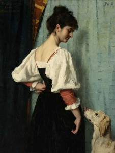 Thérèse Schwartze, Portrait of a Young Woman, with 'Puck' the Dog, 1879 – 1885 Courtesy of Holland America Line