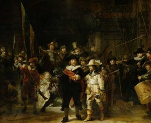 Rembrandt Harmensz van Rijn, Night Watch, 1642- Image Courtesy of Holland America Line